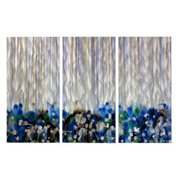 Whiteout Metal Wall Art - Set of 3 - 38W x 23.5H in.