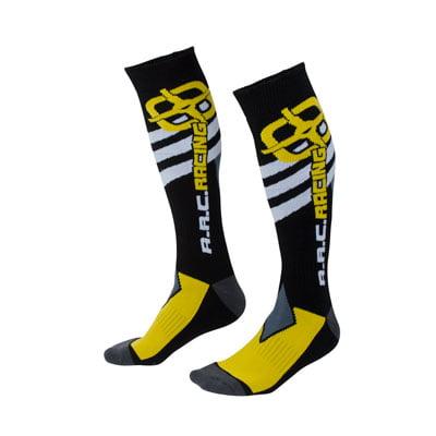 A.R.C. Moto Socks Youth Size 1-5 Black/Yellow