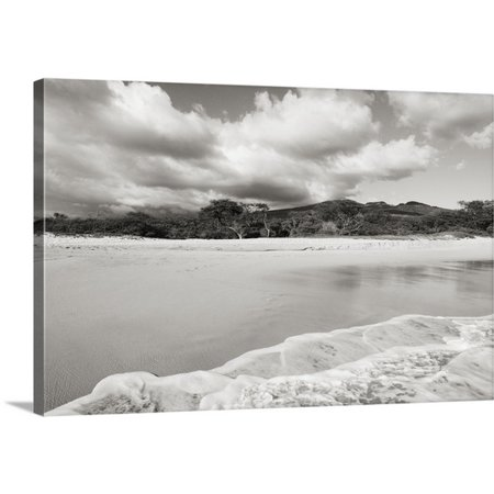 Great Big Canvas Ron Dahlquist Premium Thick Wrap Canvas Entitled Hawaii  Maui  Makena State Park  Oneloa Or Big Beach  Water Lapping