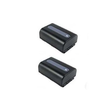 TWO 2X Batteries for Sony NP-FH30, Sony NP-FH40, Sony NP-FH50, Sony NP-FH60, Sony DCR-SR30, Sony DCR-SR32, Sony SR33 (Sony Dcr Sx45 Battery)