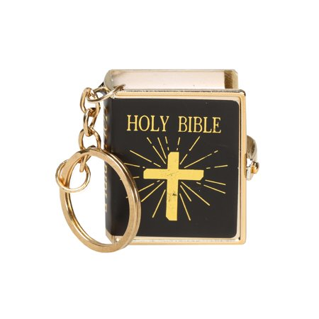 US Nordic Import & Export Co. Real Miniature Bible Keychain - Printed Christian Holy Book Key Ring](Real Rabbit's Foot Keychain)