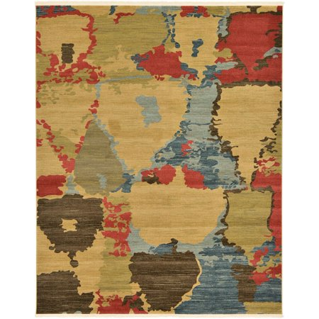 Contemporary Frederica Collection Area Rug in Earth Tones and Rectangle, Round, Runner Shape