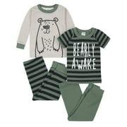 Gerber Baby & Toddler Boys Snug Fit Cotton Pajamas, 4pc Set (12M-5T)