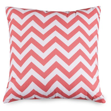 Majestic Home Goods Indoor Coral Chevron Large Decorative Throw Pillow 20 in L x 8 in W x 20 in - Coral Chevron