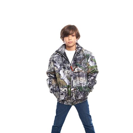 67f49515da3 TrailCrest - KIDS INSULATED  WATERPROOF MOSSY OAK CAMOUFLAGE TANKER JACKET-  HUNTING- CAMPING - Walmart.com