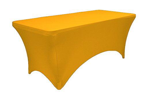 "LA Linen Spandex Fitted Stretchable Elastic Tablecloth, 72"" x 24"" x 30\ by LA Linen"