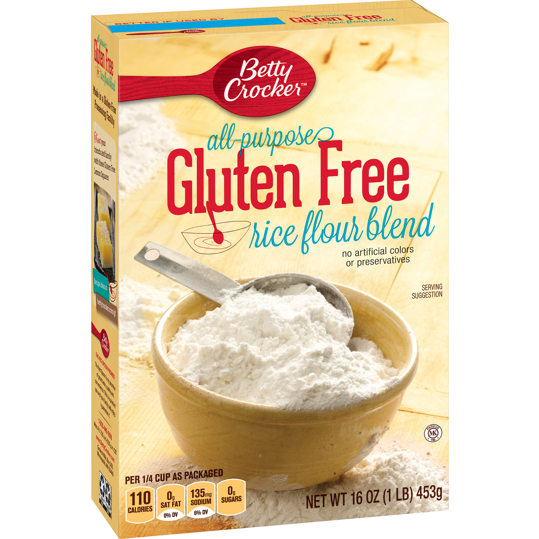 Betty Crocker All Purpose Gluten Free Rice Flour Blend, 16 oz Box