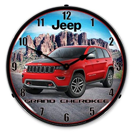 jeep grand cherokee wk2 red suv fca wall clock 14 lighted backlit made usa warranty. Black Bedroom Furniture Sets. Home Design Ideas