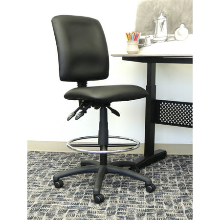 Boss Office Products Black Multifunction Drafting Stool