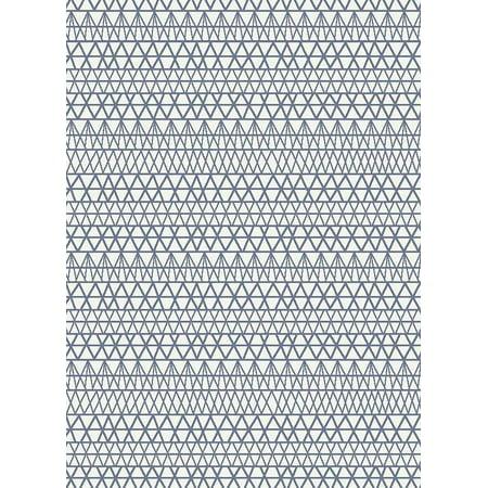 Blue Geometric Lines (Mia Area Rug 5x7 Design 88255 Blue Ivory Cream Trellis Modern Abstract Geometric Wavy Lines Contemporary )