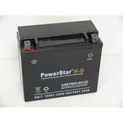 PowerStar PM20-BS-HD-23 Ytx20-Bs High Performance Heavy Duty Power Sports Battery 310Cca