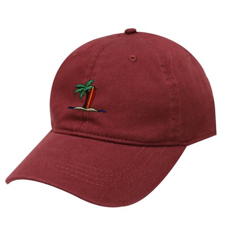 City Hunter C104 Surfing Board Cotton Baseball Dad Cap 19 Colors (Burgundy) (Surfing Baseball Caps)