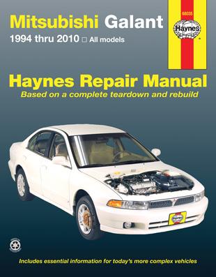 haynes manuals 68035 mitsubishi galant 1994 2010 walmart com rh walmart com 2000 Mitsubishi Galant Repair Manual 2003 Mitsubishi Galant Repair Manual