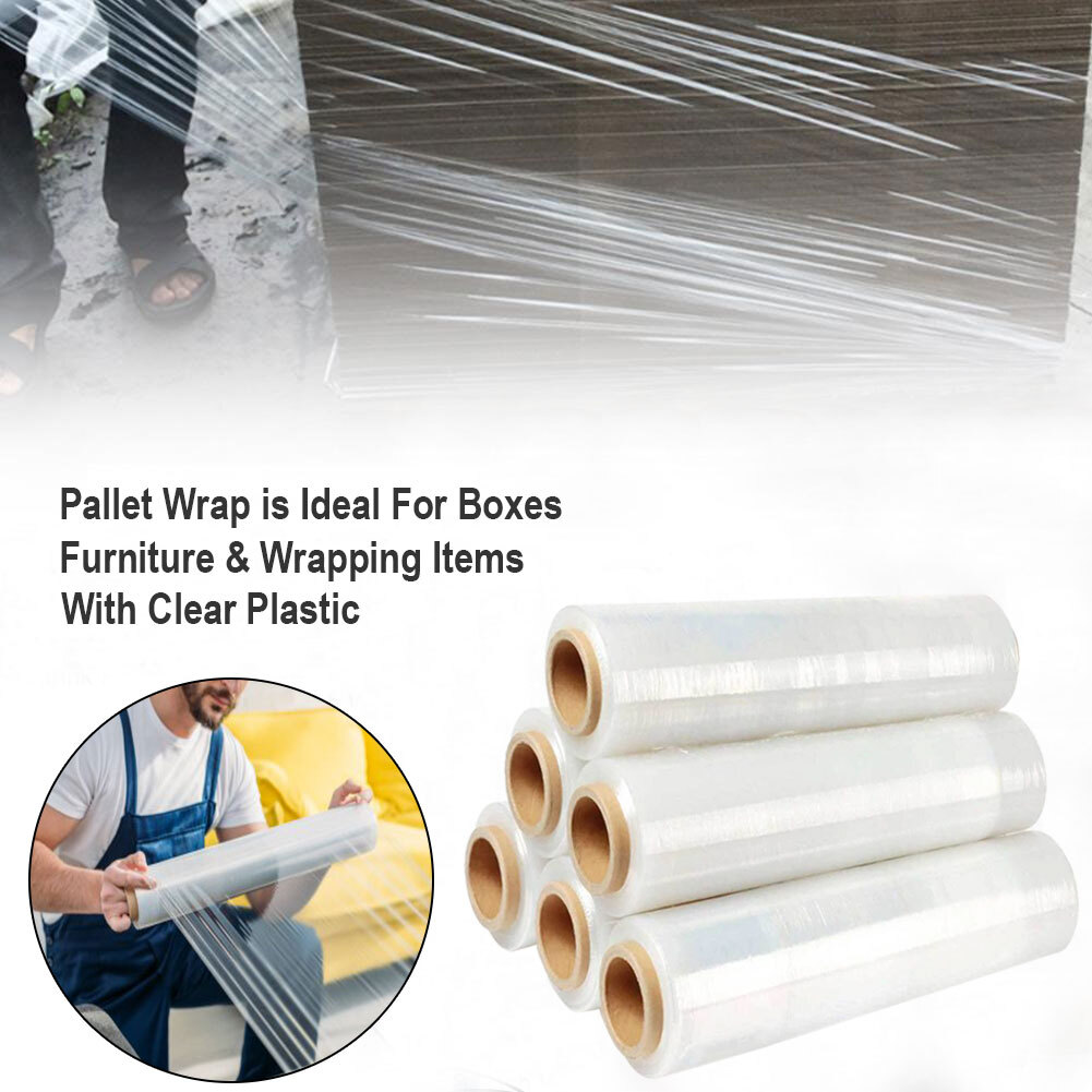 Packaging Shrink Wrap Pallet Stretch Black Tint  Film  400M 500M Clearance