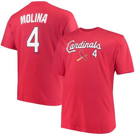 Men's Majestic Yadier Molina Red St. Louis Cardinals MLB Name & Number T-Shirt - St Louis 2017 Halloween