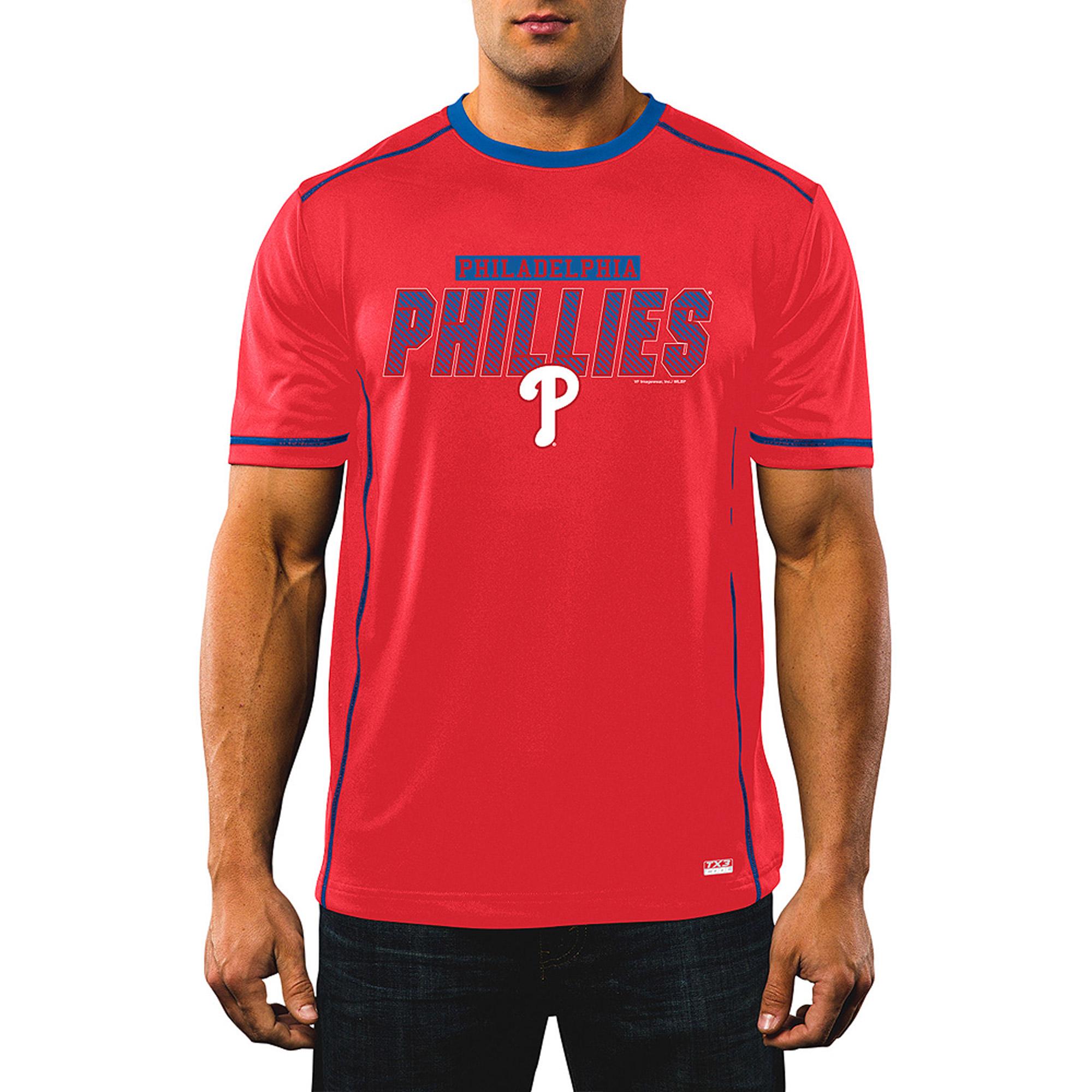MLB Men's Philadelphia Phillies Synthetic Tee
