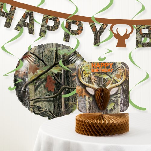 The Party Aisle Hunting Camo Party Decoration Kit