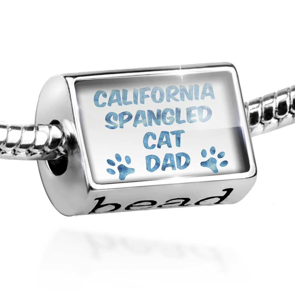 Bead Dog & Cat Dad California Spangled Cat Charm Fits All European Bracelets