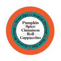 Smart Sips Coffee Pumpkin Spice Cinnamon Roll Cappuccino Single Serve Cups, 72 Count, Compatible With All Keurig K-cup Machines