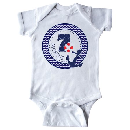 Seven Months Old Nautical Anchor Infant Creeper (Best Gift For 7 Month Old Girl)