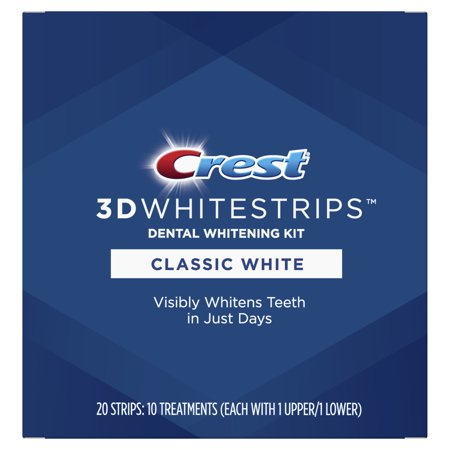 Crest 3D Whitestrips Classic White Teeth Whitening Kit, 10 (Take Home Teeth Whitening Kit From Dentist)