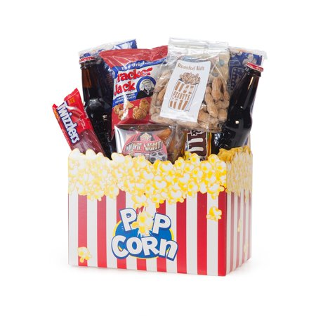 Gift Basket 820112-RB10 Movie Night Mania Gift Box - 10.00 Redbox Gift Card - Halloween Gift Baskets Diy