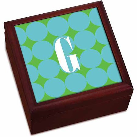 Personalized Blue Polka Dots Keepsake (Beach Keepsake Box)