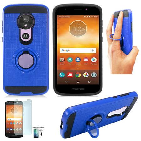 separation shoes 6fc49 2d609 Phone Case for Moto E5 Go Verizon / Motorola MOTO E5 Play Case  (MOTXT1926PP) / Moto-E5-Cruise /Moto E-Play 5th Gen Case +Tempered Glass  (Ring-Stand ...