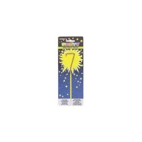 Unique Industries 34107 Numeral 7 Sparkler Pack of 12