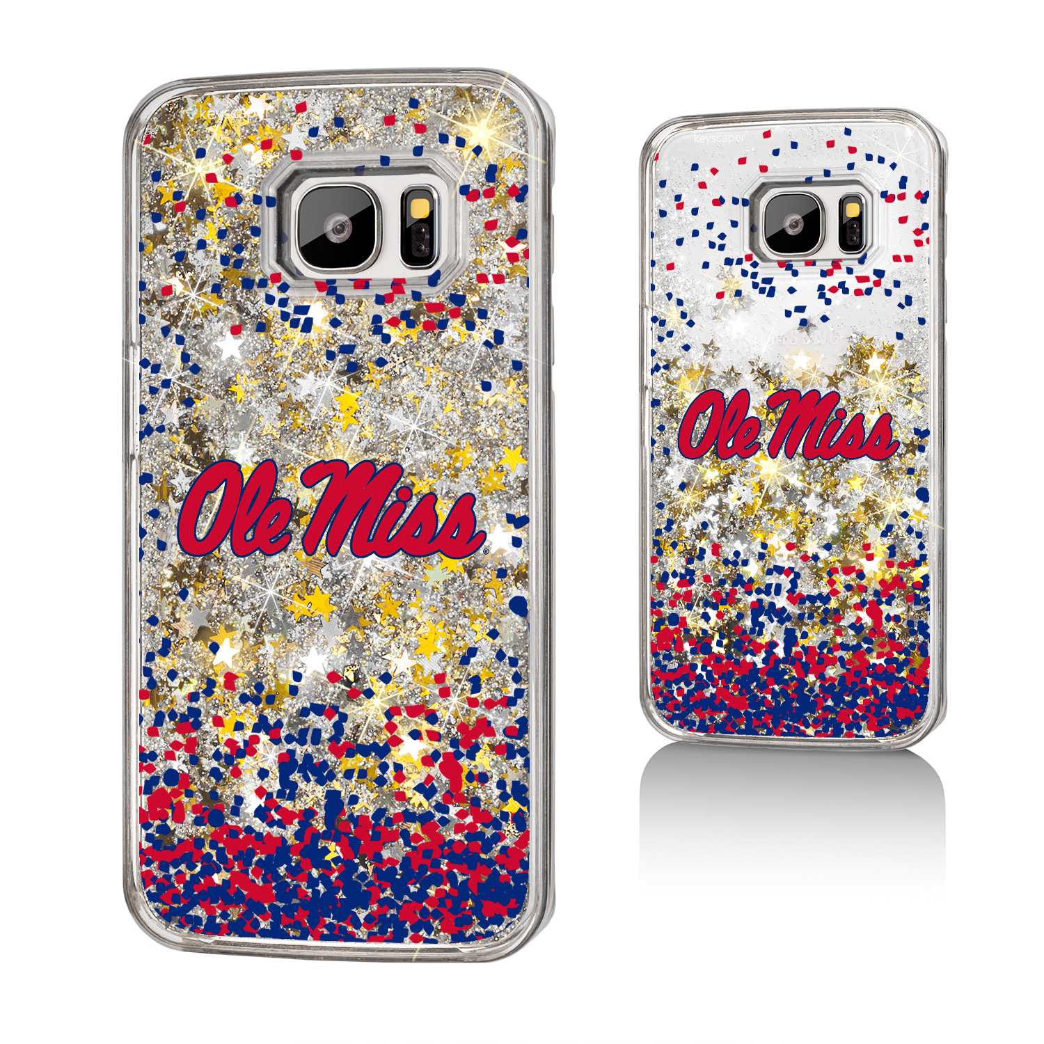 UM Mississippi Ole Miss Rebels Confetti Glitter Case for Galaxy S7