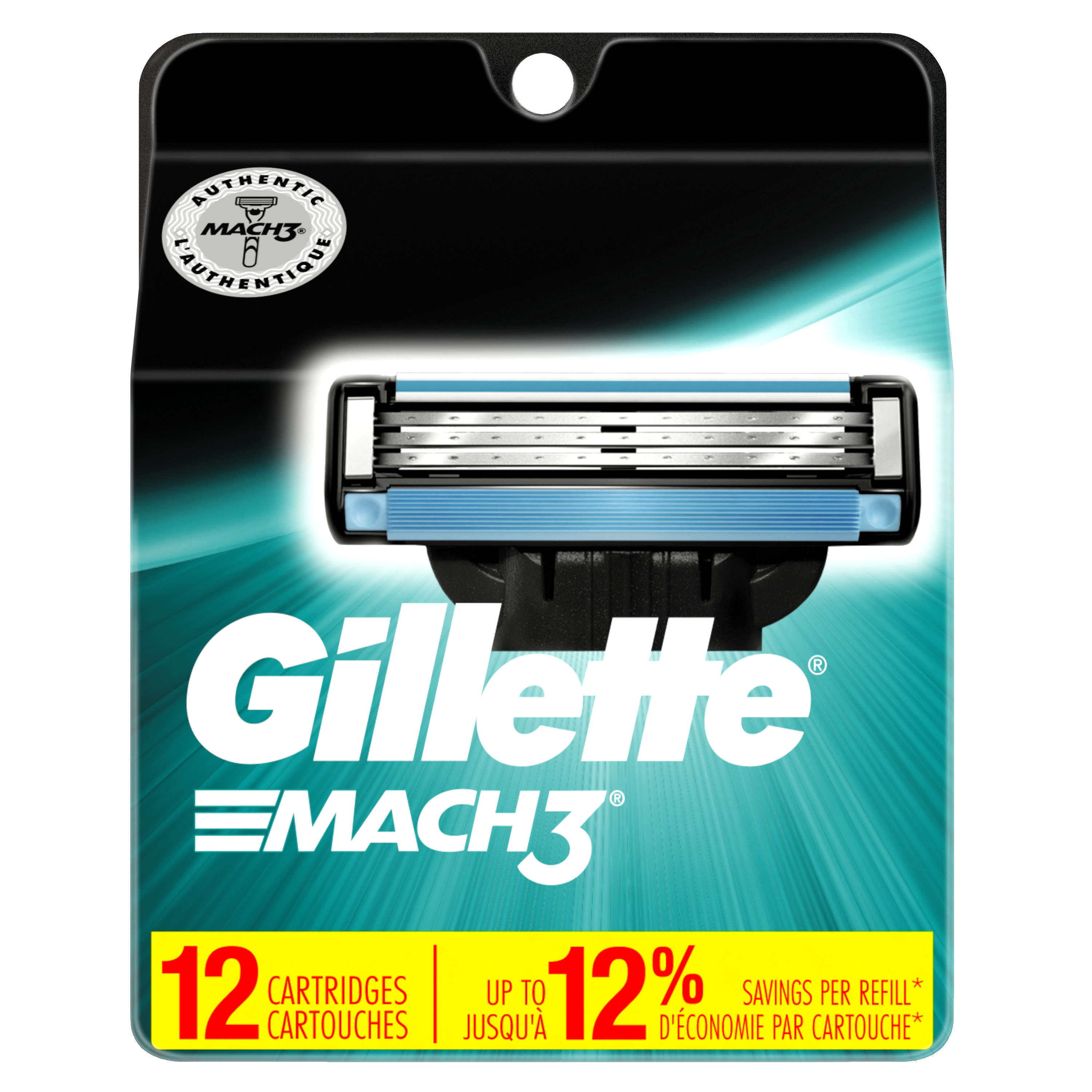Gillette Mach3 Cartridge, 12ct