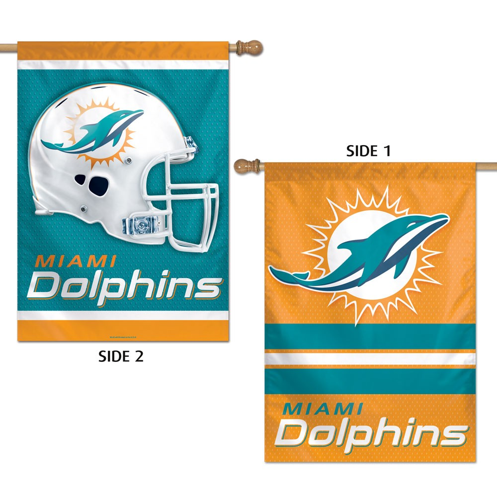 Miami Dolphins Official NFL 28 inch x 40 inch  Banner Flag by Wincraft