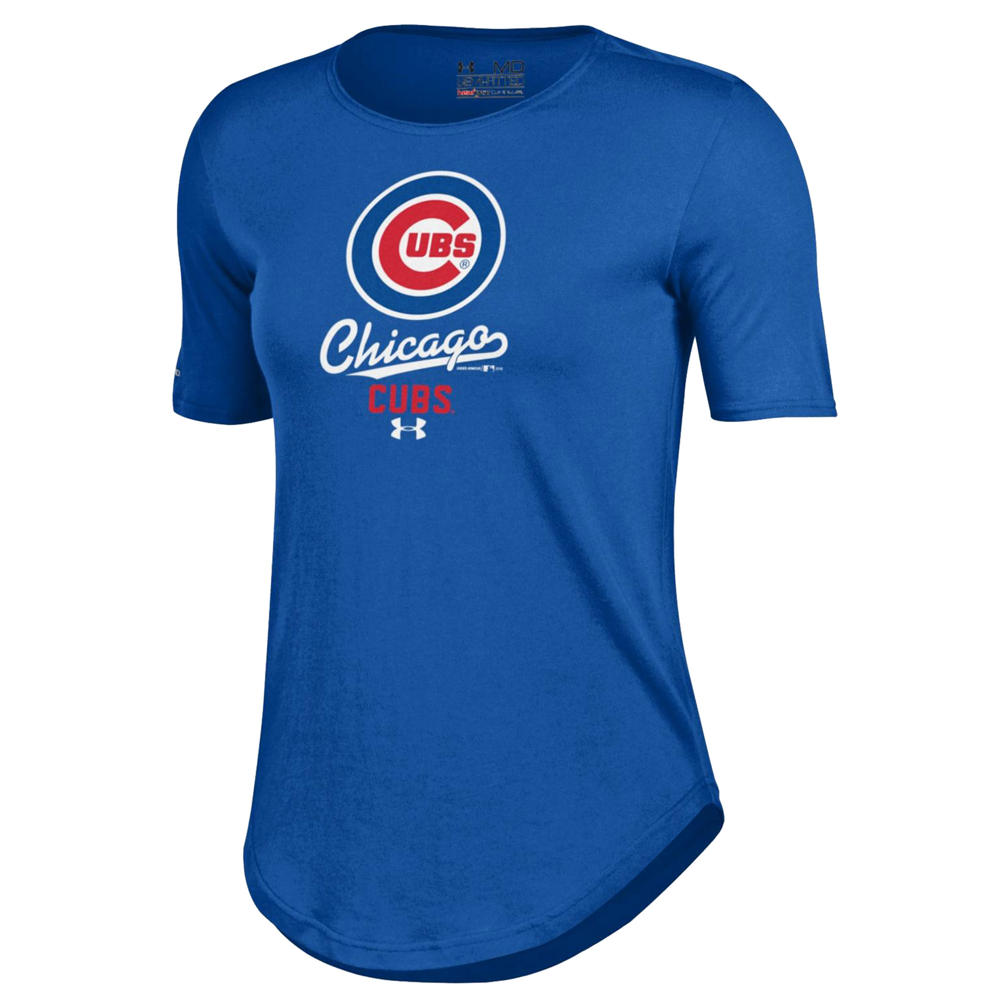 Chicago Cubs Under Armour Women's Crew Performance T-Shirt - Royal