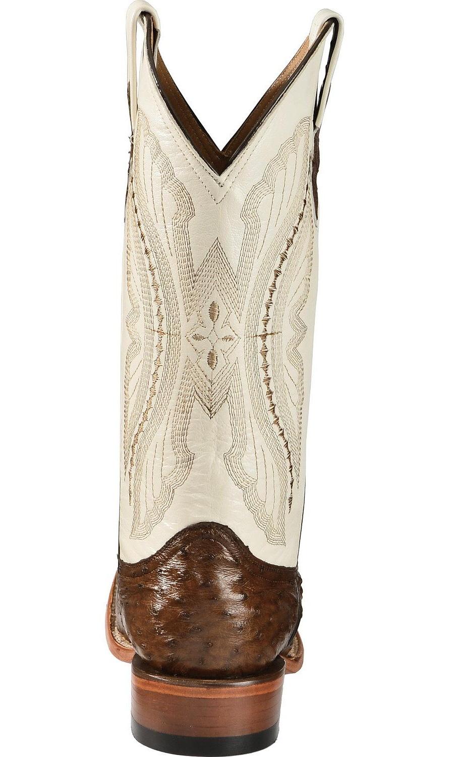Ferrini Men's Full Quill Ostrich Cowboy Boot Wide Square Toe - 1019307