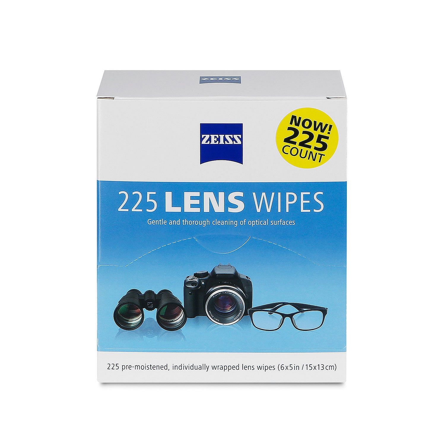Zeiss Pre-Moistened Lens Cleaning Wipes, 225 Ct