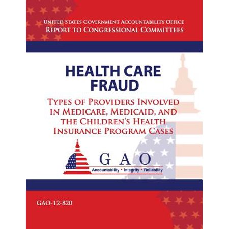 Health Care Fraud  Types Of Providers Involved In Medicare  Medicaid  And The Childrens Health Insurance Program Cases