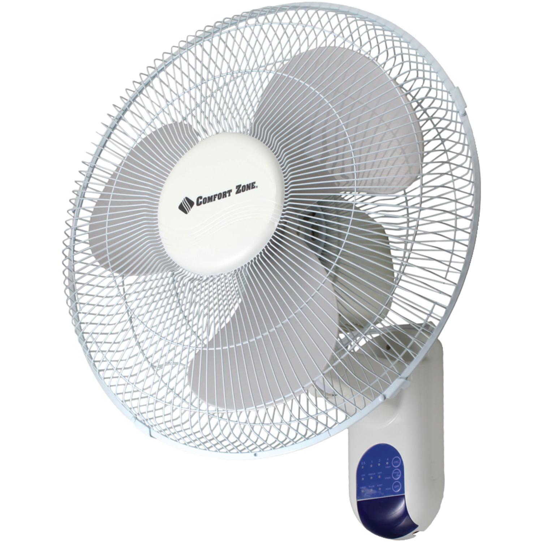 """Comfort Zone CZ16WR 16"""" Wall-Mount Fan"""