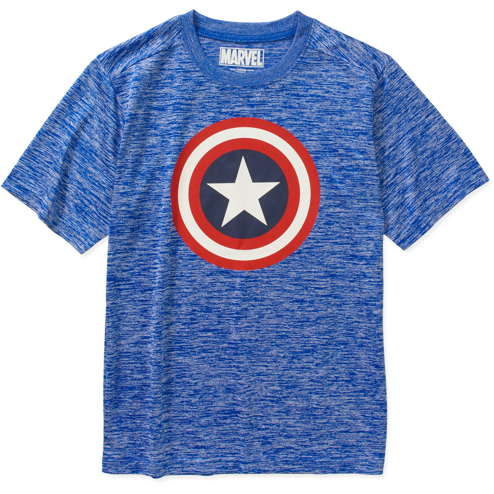 Marvel Captain America 80s Captain Boys Poly Graphic Tee