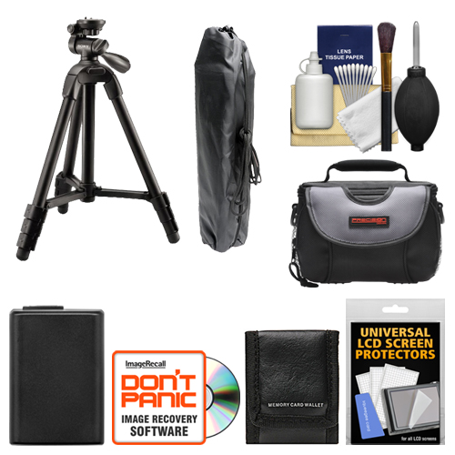 "Sony VCT-R100 40"" Photo/Video Tripod with 3-Way Pan & Tilt Head and Case (Black) with Case   NP-FW50 Battery   Accessory Kit for NEX-C3, NEX-F3, NEX-5, NEX-5N & NEX-7 Digital Cameras"