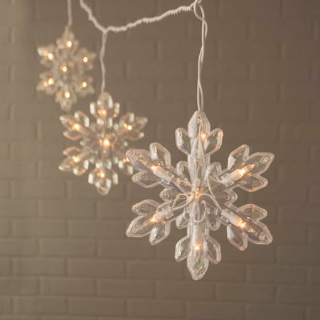 Outdoor String Lights Snowflake String Lights Indoor/Outdoor White - Walmart.com