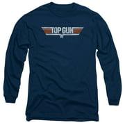 Top Gun - Distressed Logo - Long Sleeve Shirt - Small