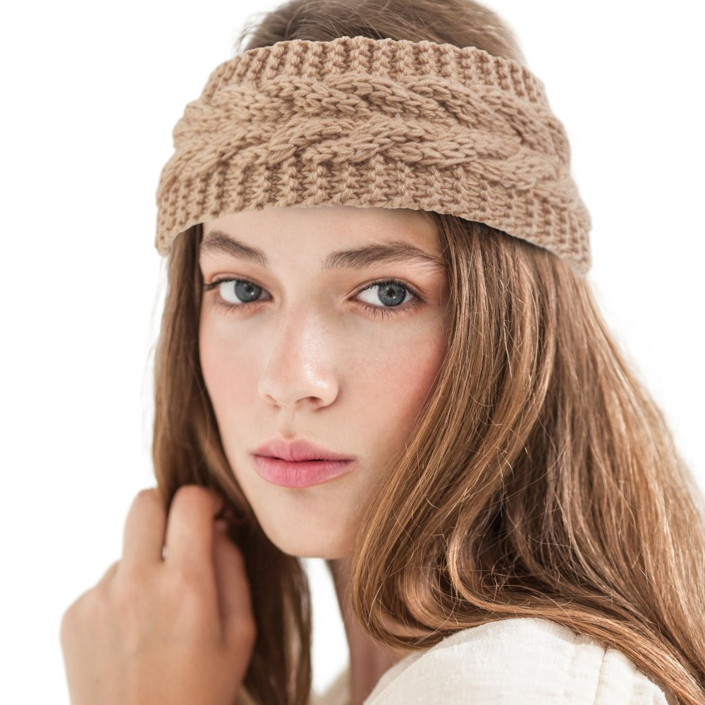 Zodaca Women Ladies Winter Crochet Knit Knitted Warmer Headband Hairband Headwrap Ear Band