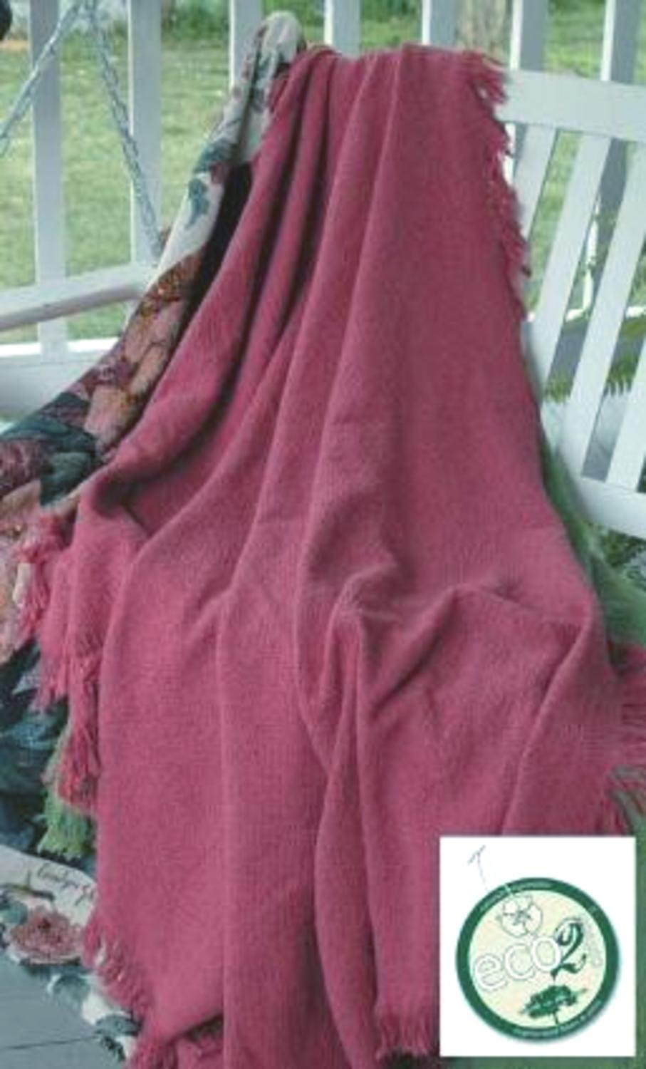 "Rose Eco2Cotton afghane Throw Blanket 50"" x 60"""