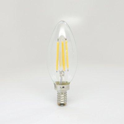 camiglo vintage candleabra torpedo tip led filament bulb c35 - 4w ...
