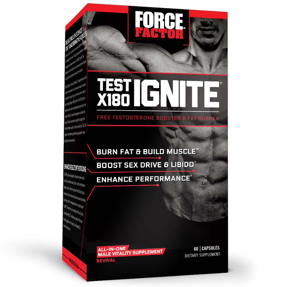 Force Factor Test X180 Ignite 60ct