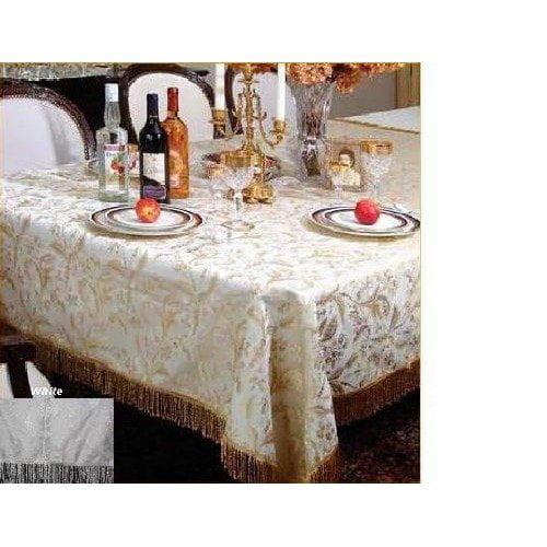 Violet Linen Luxury Damask Design Tablecloth