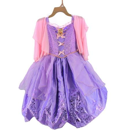 Disney Princess Prestige Child Costume, Rapunzel, Size M - Disney Rapunzel Dress