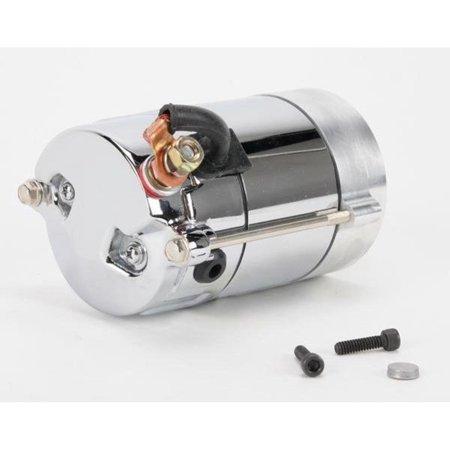 Drag Specialties 80-1006 High-Performance Starter Motor (Hitachi) - 1.4kw - Chrome