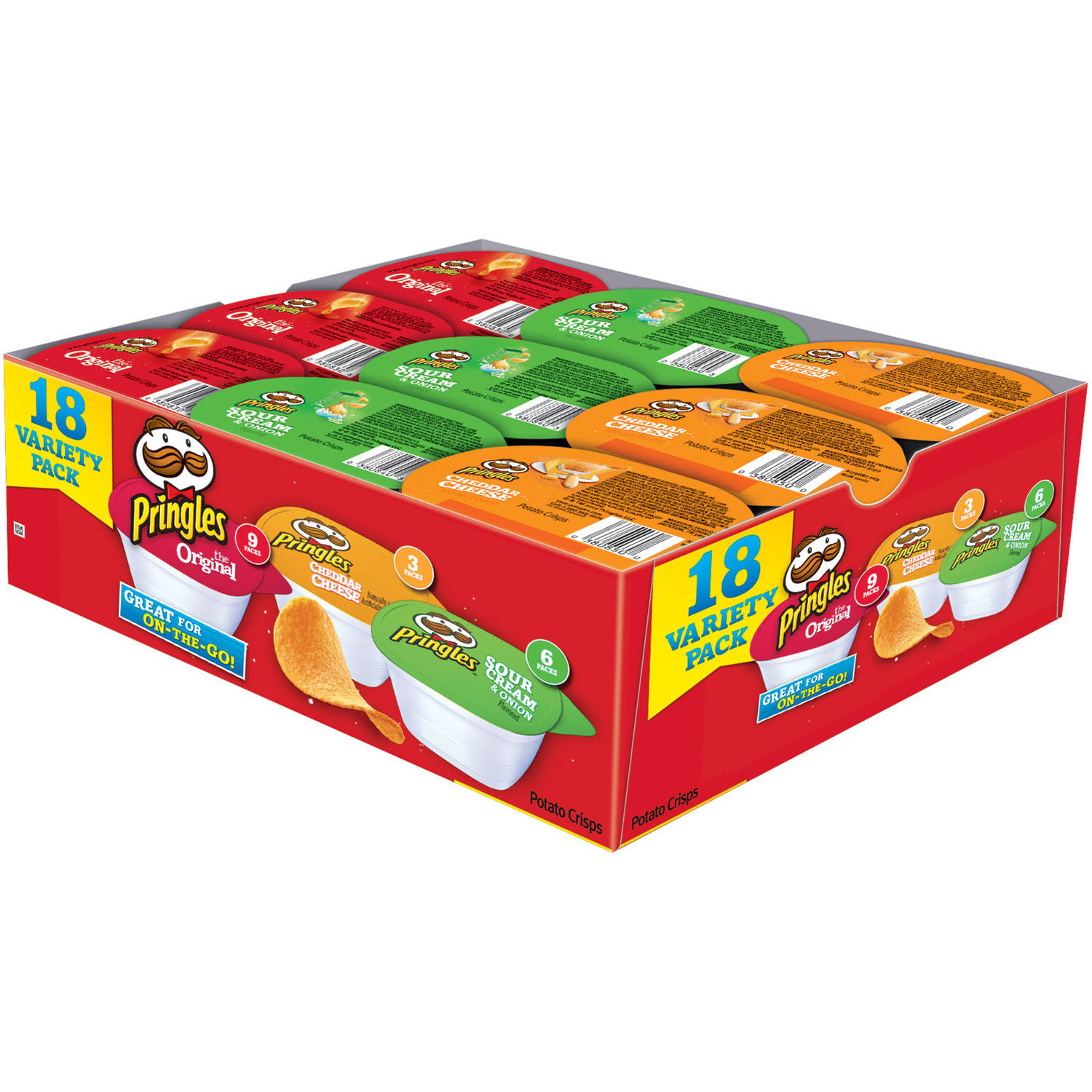 Pringles Snack Stacks! Variety Pack, 18 count, 12.69 oz