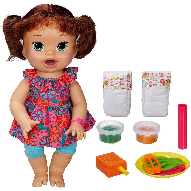 Baby Alive Super Snacks Snackin' Sara - Brown Hair